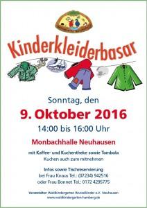Kinderkleiderbasar 2016